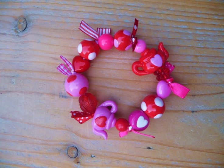 zoete hartjes met lintjes | Kindersieraden (jewels for children) | mukkepuk