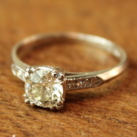 even this is a little too snazzy for me. when i get engaged i want a really simple ring.