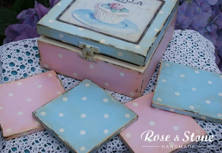 pudełko na herbatę i podkładki