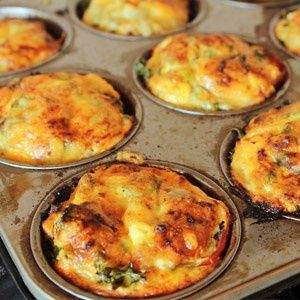 Low-carb quiche muffins
