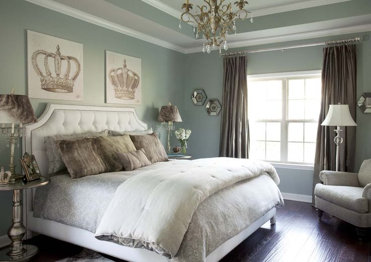 Sherwin williams silver mist paint color our master for Casual master bedroom ideas