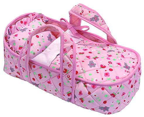 Cute idea - blanket is sewn on so the doll just slips in - make in AG doll size - make storage for clothes and shoes to fit under the bed  for an all in one carrier