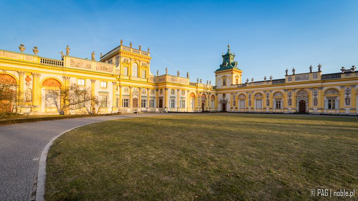 Wilanów Royal Palace and park complex in Warsaw