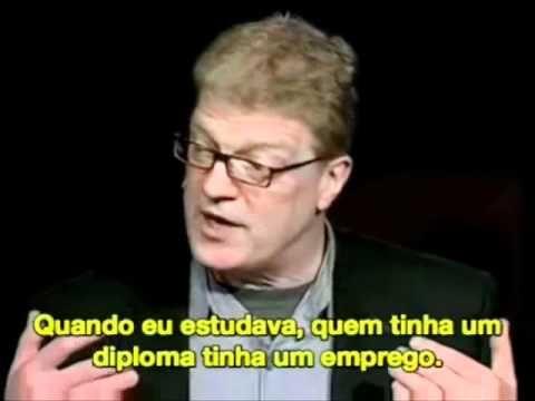 Sir Ken Robinson em excelente palestra sobre a morte da criatividade pelo atual sistema de ensino