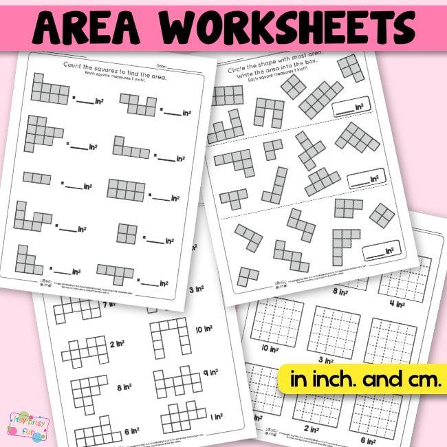 Area Worksheets 2nd Grade Math Worksheets Matematik