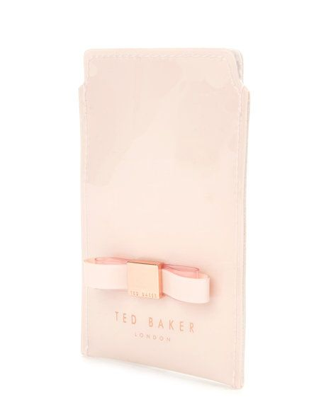 PETRI - Bow phone sleeve - Nude Pink | Womens | Ted Baker