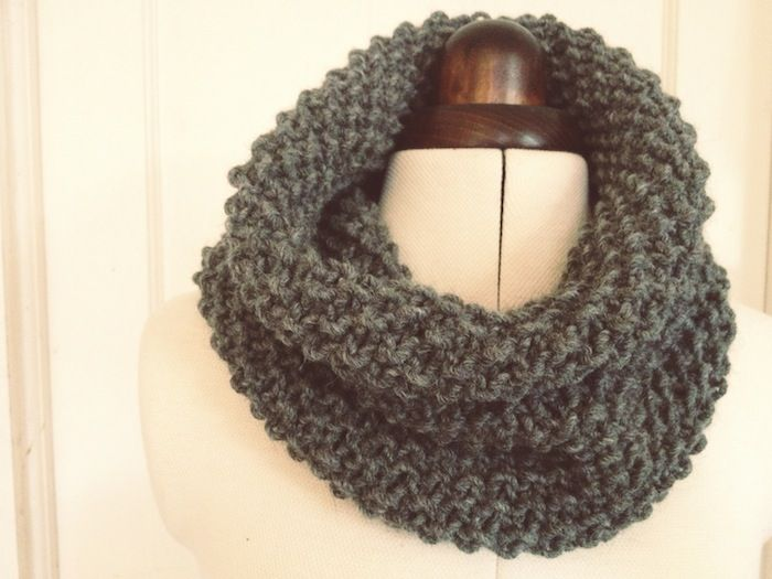 moss stitch snood - by hand london - free knitting pattern