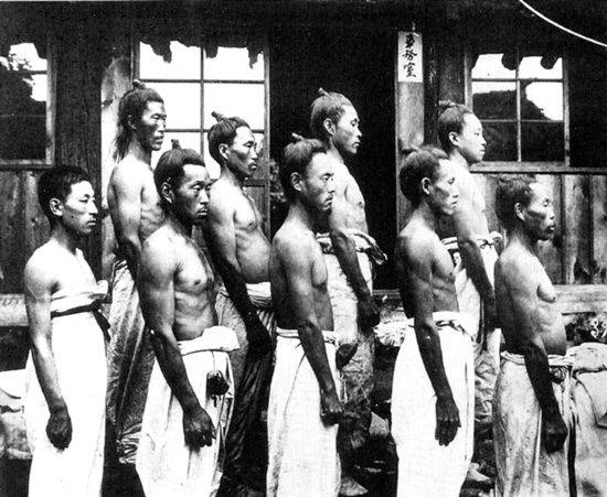 1911, Deok-won, Hamkyungnamdo, physical examination 11 men.