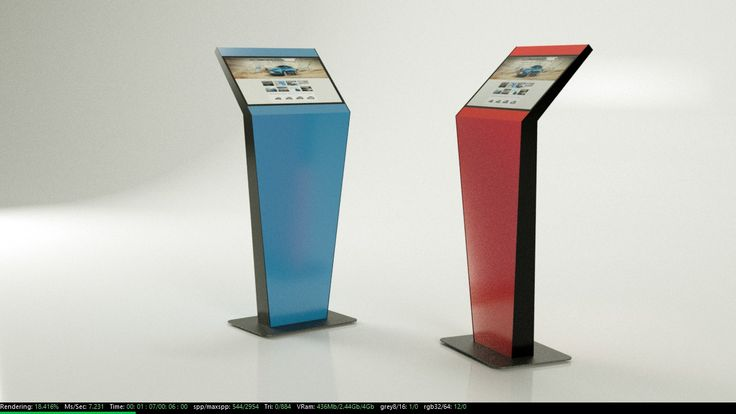 22'' infokiosk with interchangeable front panel