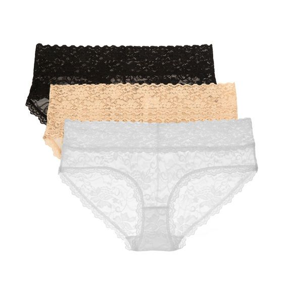 Black, Nude, Ivory True&Co. Best Lace Hipster Ever 3-Pack Panty