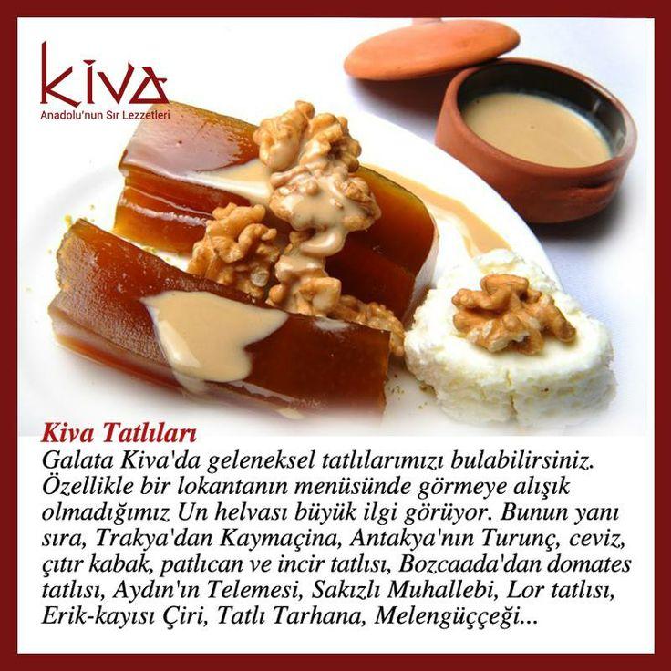 Kiva'nın meşhur Un Helvası'nın yanı sıra adını belki de ilk defa duyacağınız daha birçok tatlı çeşidini tatmaya hazır mısınız?  #kivaankara #ankara #turkishrestaurant #turkishcuisine #cuisine #restoran #dessert