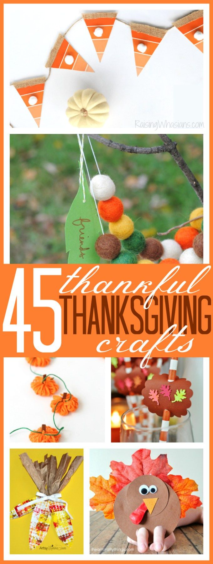 45 Thankful Thanksgiving Crafts fo Kids - Raising Whasians