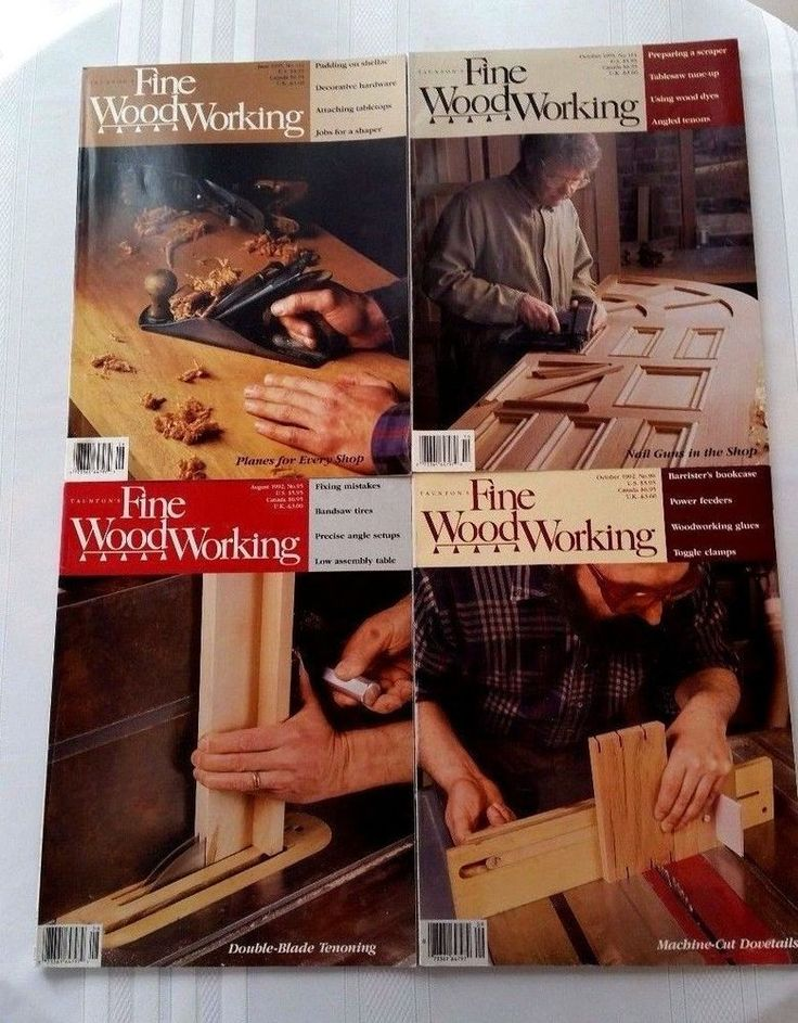 Lot of 4 Taunton's Fine Woodworking Magazine Back Issues, 1992-1995 #FineWoodworking