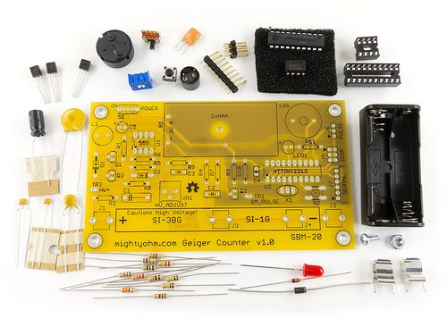 Introducing the MightyOhm Geiger Counter kit using STS 5 Geiger-Muller tube