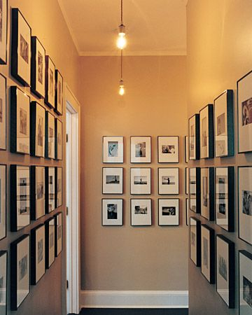 I want to redecorate my hallway with my art, I have a feeling it will end up looking like this