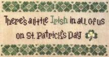 Need a little luck? Stitch these St. Patrick's Day cross stitch patterns.: A Little Irish