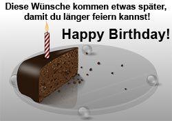 Nicht immer schafft man es pünktlich zum Geburtstag gratulieren. Zum Glück gibt es nette und lustige Geburtstagswünsche für nachträgliche Gratulationen!