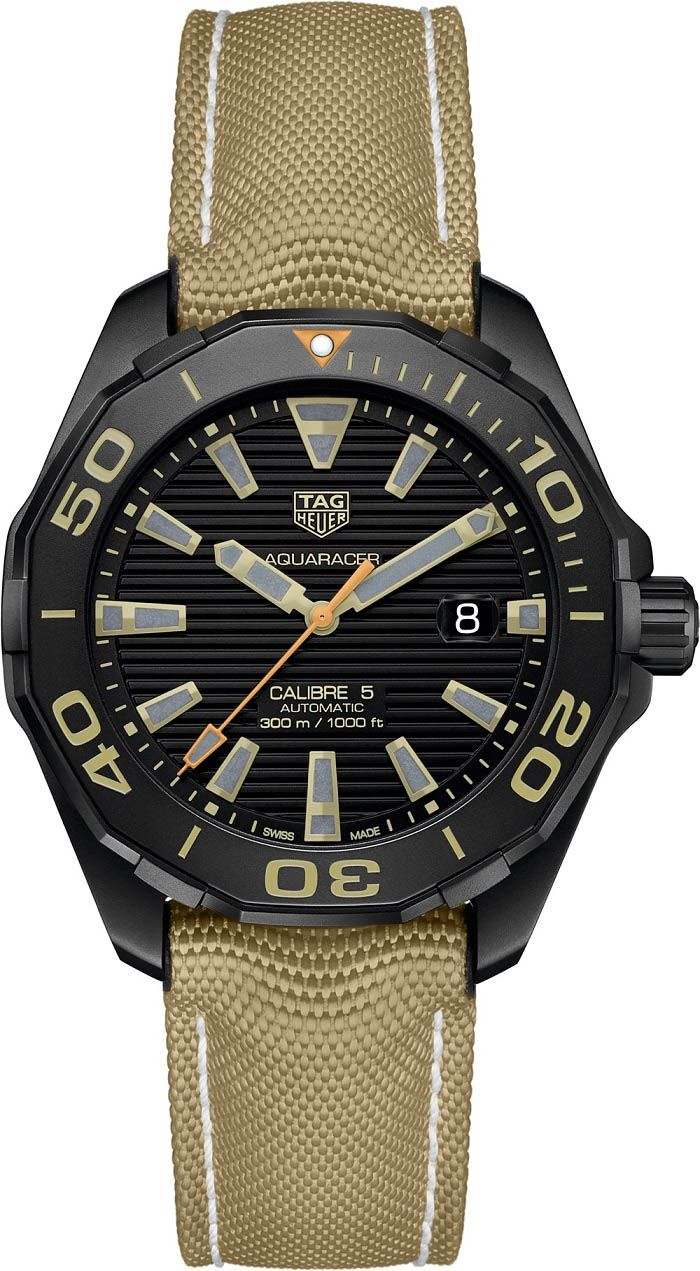 TAG Heuer Aquaracer 300 M Calibre 5 Black Titanium - Новая версия дайверских часов ТЭГ Хойер   Luxurious Watches