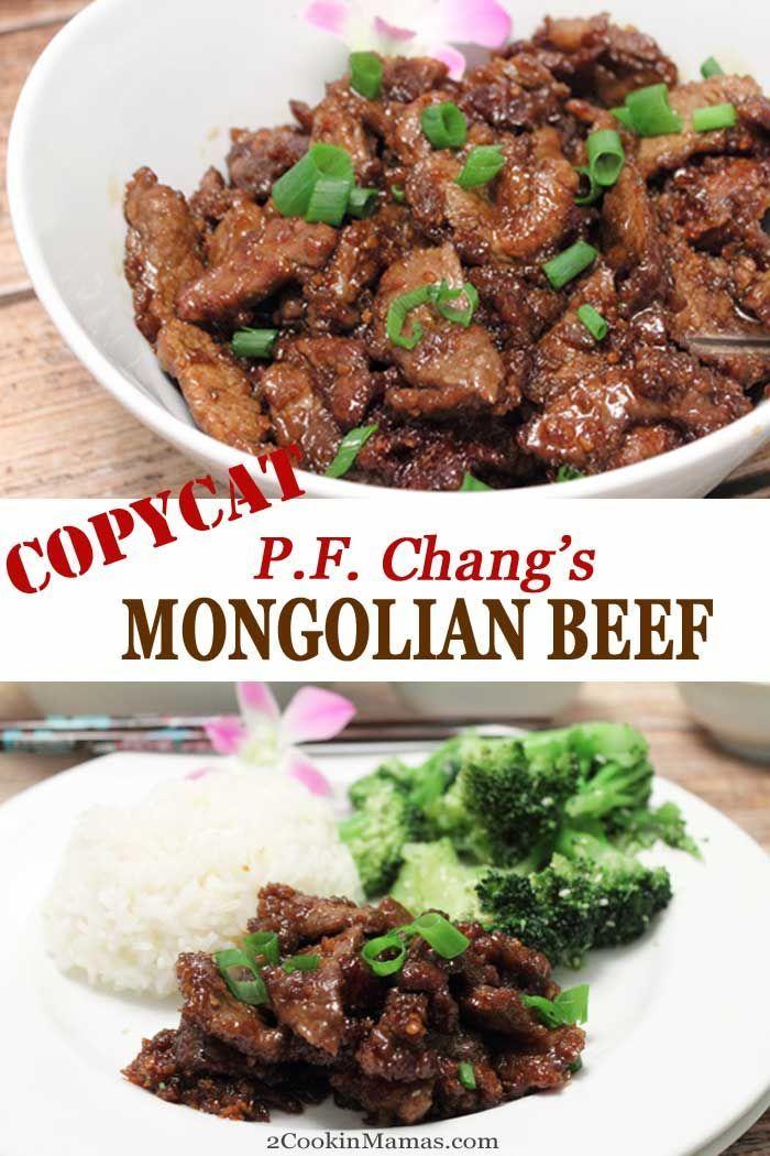 Copycat Pf Chang S Mongolian Beef Recipe Mongolian Beef