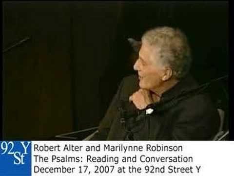 The Psalms with Robert Alter and Marilynne Robinson. See upcoming events at 92Y Poetry: http://www.92y.org/Uptown/Literary-Readings/Main-Reading-Series?utm_source=pinterest_92Y_medium=pinterest_92Y_MainReadingSeries_May412_campaign=Poetry_Center