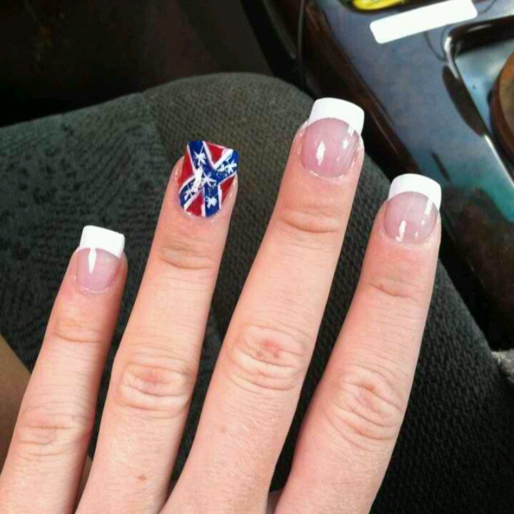 24 best southern nails images on pinterest country girl nails rebel flag nails for bg concert prinsesfo Choice Image