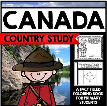 """This 30 Page """"All About Canada"""" country study mini booklet project  is perfect your upcoming Canada unit, lesson, multicultural study, cultural fair, or country study. Full of information about Canada, this fun coloring book includes information about Canada written in engaging informational text that is perfect for the lower elementary grades."""