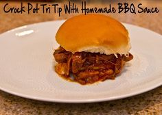 Crock Pot Tri Tip with Homemade BBQ Sauce by The Spohrs Are Multiplying..., via Flickr