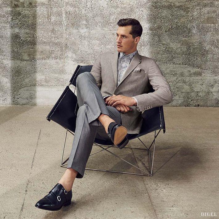 innovative Businesskombi in Grau- und Brauntönen von Digel #Digel #Herrenmode #Anzug #Business
