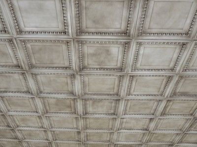 DCT 06 Faux Tin Ceiling Tile can be dropped into a suspended ceiling or glued to a flat ceiling and create stunning look.