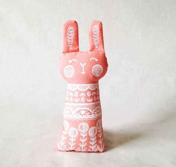 Scandinavian Easter Bunny Rabbit Plush Doll Sweet by BabyBearWare