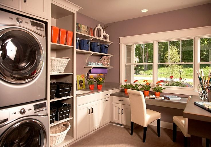Beautiful modern multipurpose laundry 25 Multipurpose Laundry Rooms that Save Up Space!
