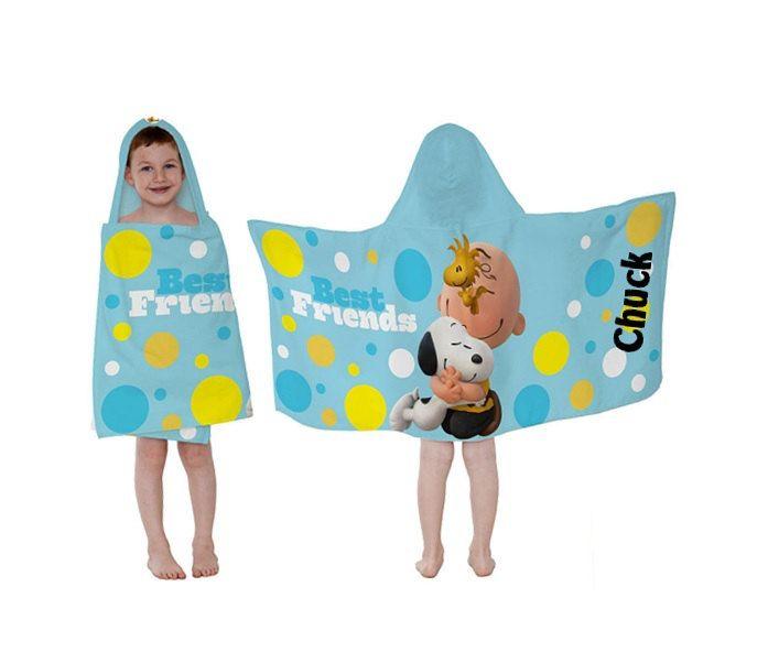 Personalized Paw Patrol Beach Towel: Peanuts Best Friends Hooded Towel Wrap