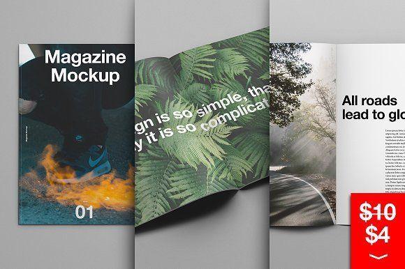 Magazine Mockup by Good Stuff on @creativemarket