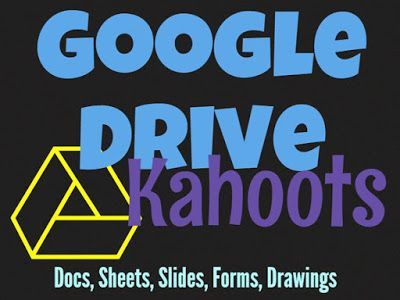 Google Drive Kahoots    Kahoot is a game-based classroom response system  Create and play quizzes discussions and surveys using any device with a web browser  Motivate participation through game-based learning and rewards in a social setting   This resource contains instructions for accessingMy Free Public KahootsaboutGoogle Drive(Docs Sheets Slides Drawings Forms)andMicrosoft Office(Word Excel PowerPoint)  Google Drive Kahoots  GAFE Google Drive Kahoot