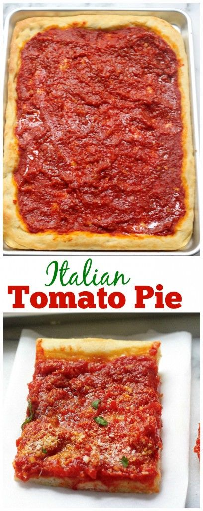 Italian Tomato Pie - Surprisingly simple to make and SO delicious! A MUST PIN for pizza lovers!