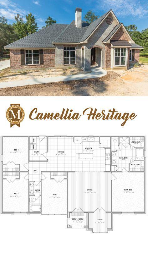 Camellia Heritage Floor Plan Living Sq Ft: 2,064 B…