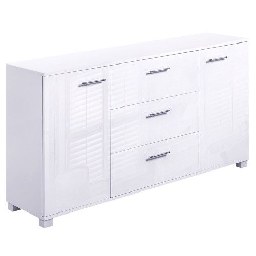 Cheap High Gloss Sideboard Storage Cabinet MDF Panels Anti-rust Cupboard White