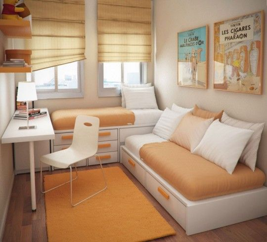 Very Small Bedrooms with Two Beds