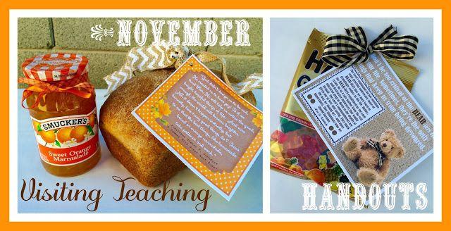Marci Coombs: November Visiting Teaching Handouts.