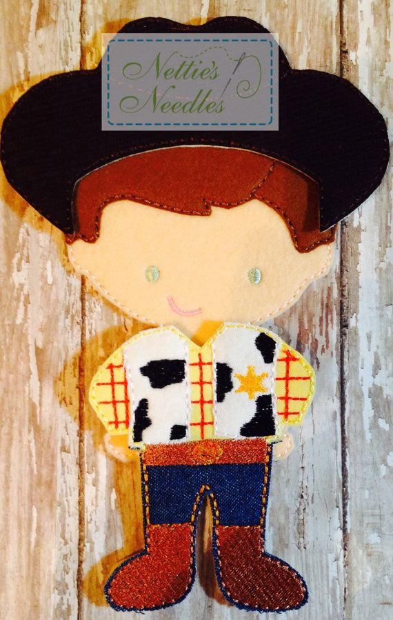 Totally cute!  Toy Story Woody Outfit for Felt Boy Dolls by NettiesNeedlesToo, $9.00  by @Annette Howard Simpson