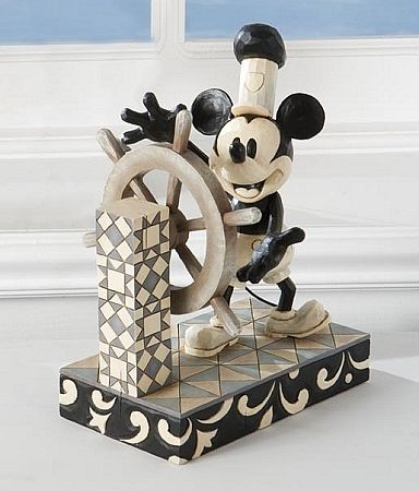 Jim Shore - Disney Traditions Steamboat Willie Black White Mickey Mouse Figurine