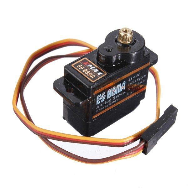 Emax ES08MA Analog Metal Micro Servo https://www.fpvbunker.com/product/emax-es08ma-analog-metal-micro-servo/    #quads