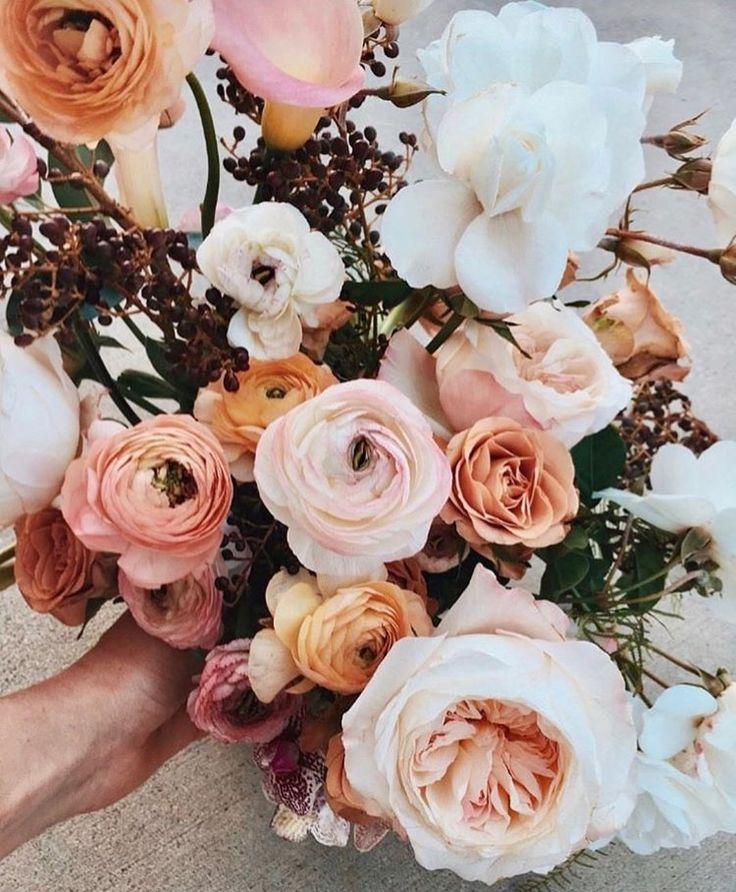 Gorgeous warm toned pink bouquet
