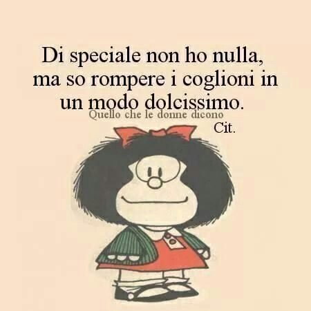 Mafalda rompi coglioni