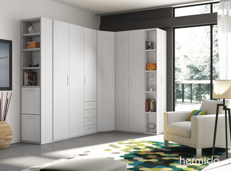 Ideas para crear un vestidor en el dormitorio closets - Armario en l ...