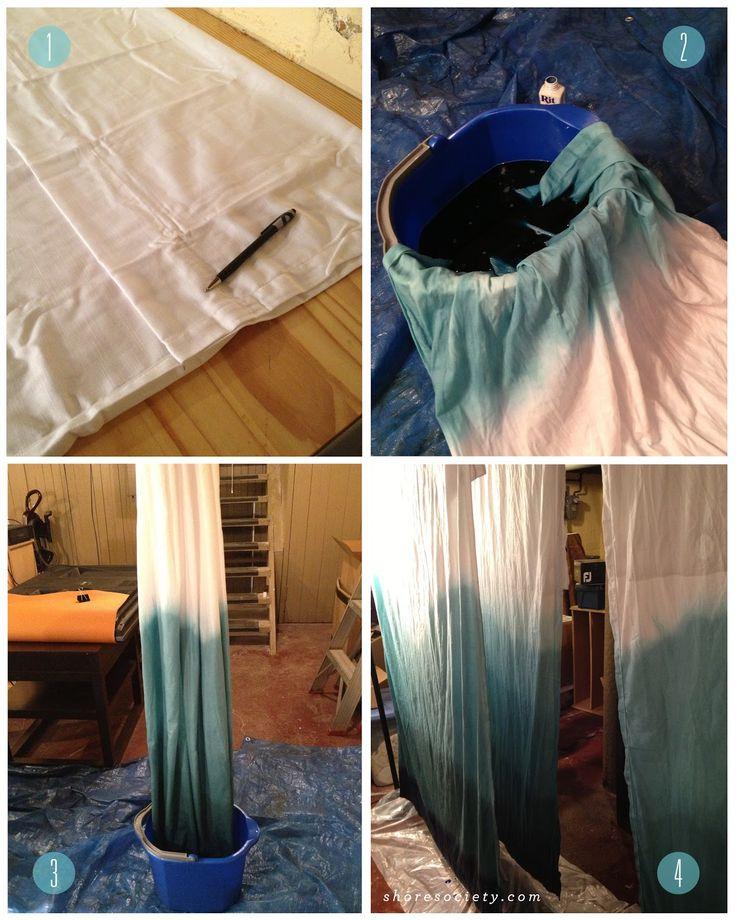 shore society: DIY: Ombre Curtains