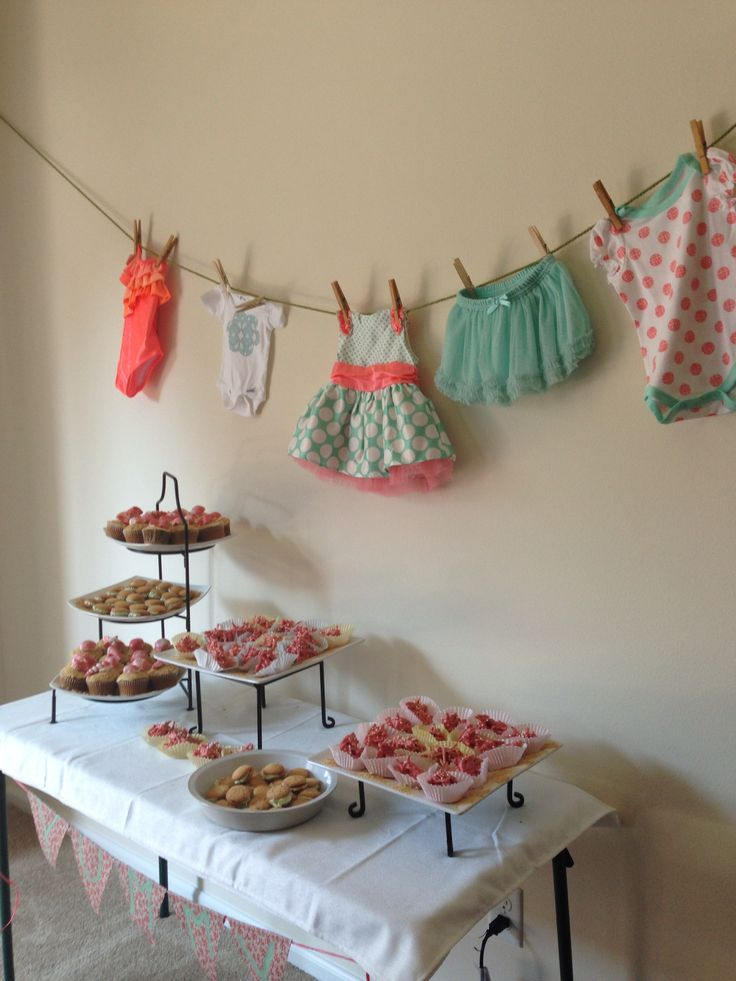 Mint Amp Coral Baby Shower Desserts Baby Showers