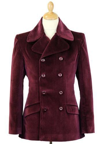 Velvet Breed MADCAP ENGLAND Mod Velvet Jacket. Classic wide lapel, Double Breasted Jacket, available now at Atom Retro: http://www.atomretro.com/product_info.cfm?product_id=14180 #madcapengland #velvetbreed #doublebreastedjacket