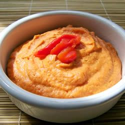 I feel like I am always buying red roasted pepper hummus.  I hope this recipe becomes a family favorite.