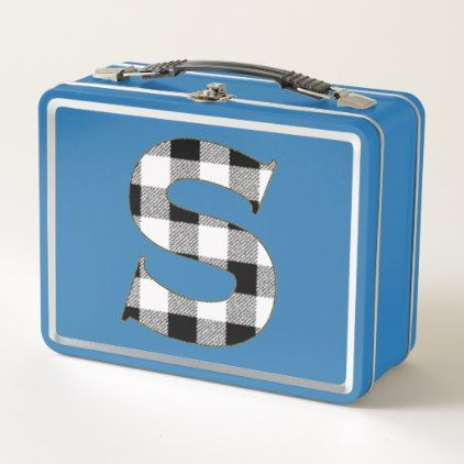 #Gingham Check S Metal Lunch Box - #cute #gifts #cool #giftideas #custom